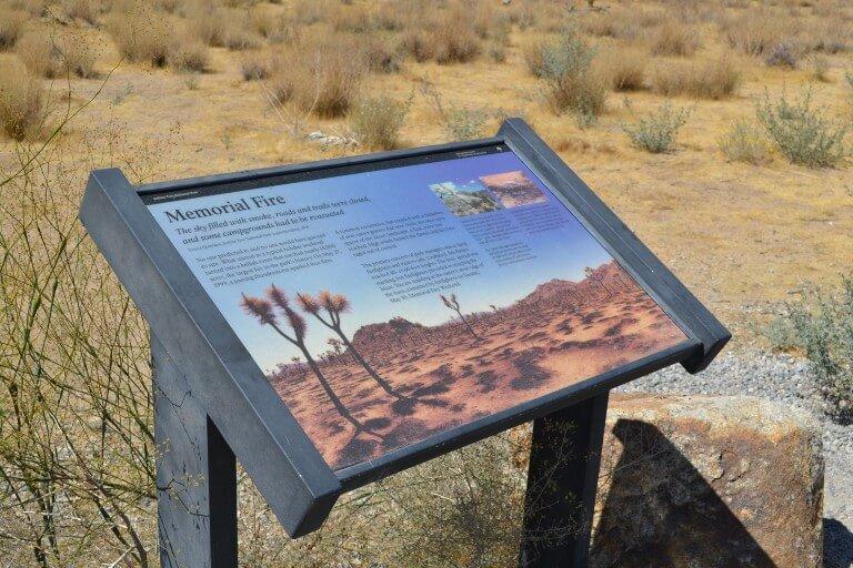 Joshua-tree-national-park-hiking-camping-tour-adventure-memorial-fire-plaque