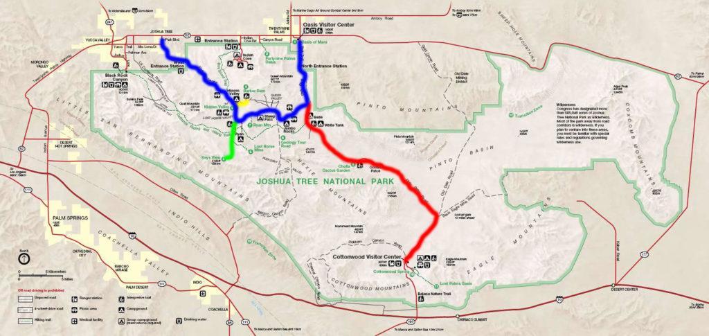 Joshua-Tree-National-Park-Hiking-Camping-Tour-Adventure-Map